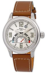 Ball Trainmaster TMT Celsius Automatic Mens Strap Watch Silver Dial Date NT1050D-LAJ-WH