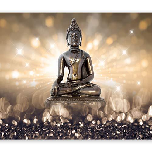 murando Fototapete Buddha 350x256 cm Vlies Tapeten Wandtapete XXL Moderne Wanddeko Design Wand Dekoration Wohnzimmer Schlafzimmer Büro Flur Orient Zen h-C-0011-a-b