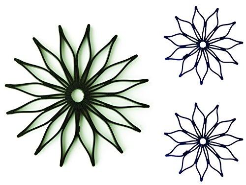 1 Blossom Trivet & 2 Blossom Trivet Mini COMBO SET (Black)