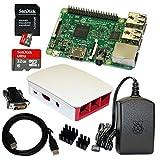 B01CI4W602 Raspberry Pi 3 Model B Bundle / Starter Set mit Zubehör 32 GB