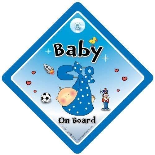 Baby On Board, petit-enfant à bord, panneau pour voiture,, Baby on Board, Bébéà Bord Bleu broches de sécurité signe voiture fantaisie, signe, bébéà bord