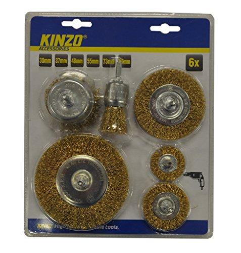 KINZO Steel Brush set 6 Stück ST, 54679