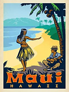 hula girl car decals
