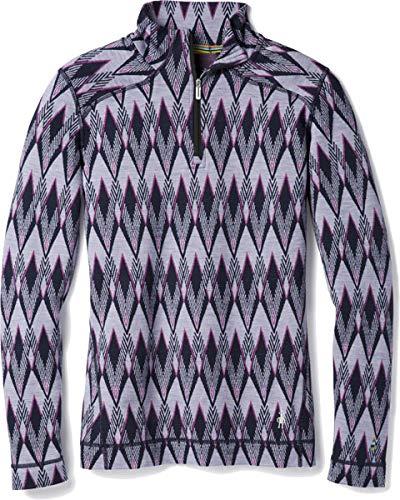 Smartwool Women's Merino 250 Baselayer Pattern 1/4 Zip purple mist M