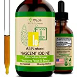 Vegan Liquid Iodine Supplement for Thyroid Support and Cognitive Function - Potent All-Natural Nascent Iodine Drops - Boost Your Metabolism and Energy Levels Naturally