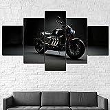 HHGJJ 5 Piezas Impresiones En Lienzo Bicicleta Triump Rocke III TFC 5 Piezas Cuadro sobre Lienzo,Cuadro En Lienzo 5 Piezas,Pintura Decoración 5 Piezas,HD Mural Moderno Decor Hogareña,150X100Cm