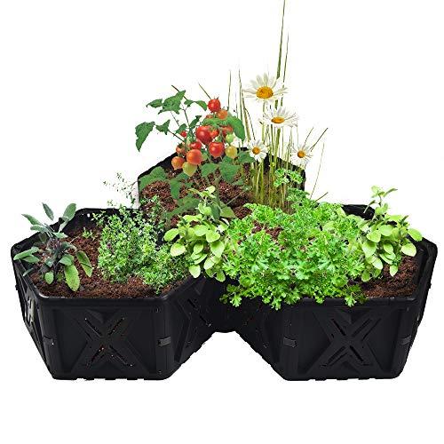 EJWOX Big Raised Garden Bed Kit,Outdoor Planter Garden Box for Vegetable/Flower/Herb/Fruit,DIY Gardening, Diamond Style