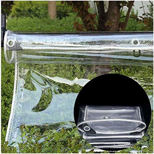 GONGSI Cubierta de Lona de PVC de Vidrio, Resistente al Aire Libre Resistente a Prueba de Agua a Prueba de Intemperie (Color : Clear, Size : 1.4x3m)