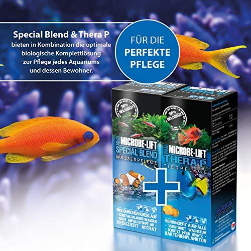 MICROBE-LIFT TheraP – (Qualitäts-Bakterienpräparat, zur optimalen Tierpflege in jedem Meerwasser & Süßwasser Aquarium, für optimale Gesundheit und Wachstum, reduziert Ausfälle, 100 % biologisch, Wasseraufbereiter, ausreichend für 50.400 Liter), 3785 ml - 5