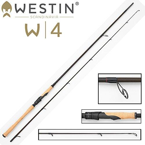 Westin W4 Powershad 240 cm MH 15-40g Spinnrute Spinnrute für Hecht, Zander, Barsch, Forellen Angelrute zum Hechtangeln, Rute zum Zanderangeln, Angel zum Spinnfischen, 2-teilige Rute