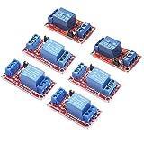 ZHITING Lot de 6 modules de relais 12 V 1 canal avec support d'isolation optocoupleur déclencheur haut ou bas niveau