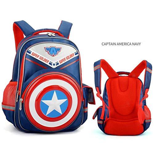 Backpack Mochila para Niños De Dibujos Animados En 3D De Impresión Capitán América Escudo para La Escuela De Los Niños Bolsos Y Mochilas B