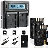Blumax 2X Akku ersetzt Panasonic DMW-BLF19 / DMW-BLF19E 2040mAh + Doppel-Ladegerät | komaptibel mit Panasonic Lumix DMC-GH3 / DMC-GH4 / DMC-GH4R / DC-GH5 DMC-GH3A / DMC-GH4 / DMC-GH3H