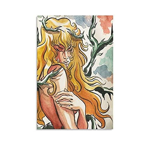 Shujian Lady Oscar - Poster decorativo da parete in tela con motivo fumetto, 40 x 60 cm