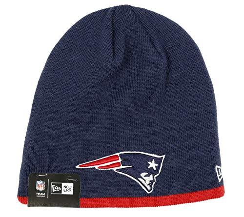 New Era New England Patriots Beanie NFL Team Skull Knit Navy - One-Size