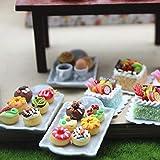 Ruby569y Puppenhaus-Zubehör für Heimwerker, Mini-Donut-Kuchenplatte, Kinder-Puppenhaus,...