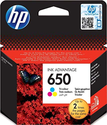HP CZ102AE#302 650 Tintenpatrone Standardkapazität 200 Seiten Multi tag, dreifarbig