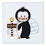 3dRose schwarz und weiß Pinguin mit EIN Iglu mit North
