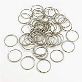 Crystal Pendant 100x 11mm 12mm 13mm 15mm 20mm rotondo anello in acciaio inox cristallo per lampadario a sfera parti perline accessorio ad accessori Durable in use. ( Color : Silver , Size : 11mm )
