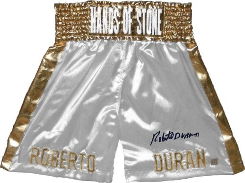 Roberto Duran Signed White Trunks