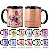 Heat Changing Constellation Mug 12 OZ Color Changing Mug with Gift Box for Women/Men-Sagittarius