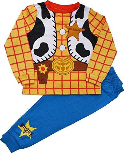 Pijama disfraz de Woody de 'Toy Story' de Disney, para niños de 1,5, 2,2, 3,3, 4,4 y 5 años azul...
