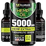 Best Hemp Oils - Hemp Oil for Anxiety Relief - 5000 MG Review