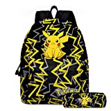 2PCS Kids Cartoon Backpack students school bag with pencil case kids Bookbag for for boys Girls Teens Fans Gifts (C)