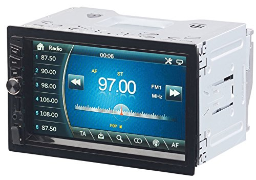 CREASONO Doppel DIN: 2-DIN-MP3-Autoradio mit Touchdisplay, Bluetooth, Freisprecher, 4X 45 W (Radio 2 DIN)