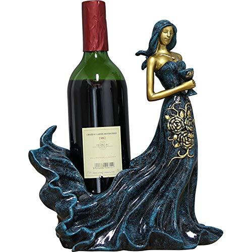 Weinkabinett Dekorationen,kreative Schönheitsskulptur Handwerk Weinregal Ornamente Home Interior Restaurant Desktop Weinflaschenhalter Zubehör Ornamente Geschenk