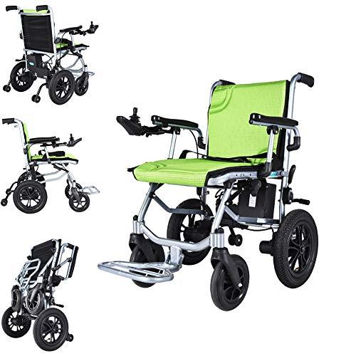 Starsmyy Silla De Ruedas Eléctrica Plegable para Discapacitados Carro Plegable Antiguo Deshabilitado Scooter Conduzca, Silla De Ruedas De hasta 12 Millas