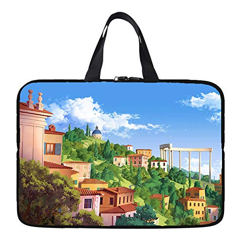 Laptop Sleeve Case Protective Bag with Outside Handle, Ultrabook Notebook Carrying Case Handbag for 14' 15' Lenovo Dell Toshiba HP Acer-city_7-inch