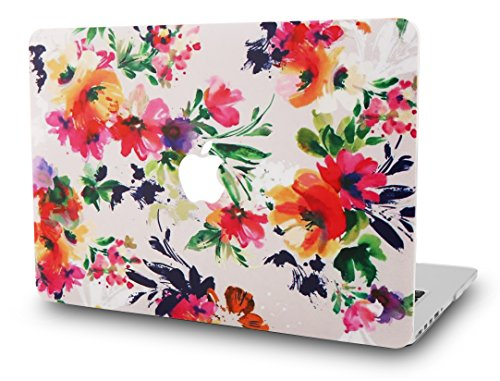 KECC Laptop Case for MacBook Air 13' Plastic Case Hard Shell Cover A1466/A1369 (Flower 8)