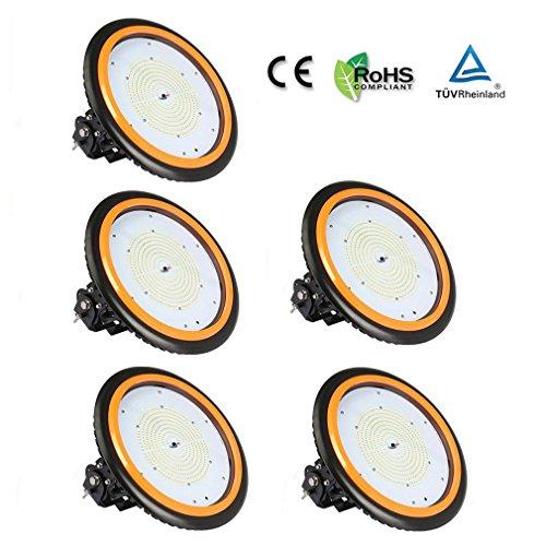 5 Stücke Anten LED Hallenstrahler 150W Fluter Fabrik Hallenleuchte für Industriebeleuchtung, 22000LM, 120°Abstrahlwinkel, Tageslichtweiß Hallenlicht 6000-6500K, TÜV-Zertifikat, 5 Jahre Garantie