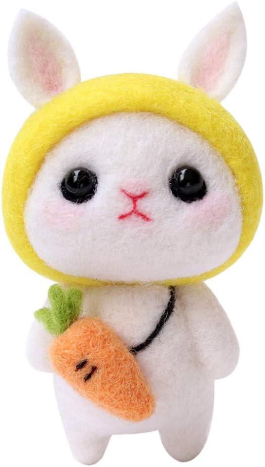 Bonarty Lovely Animal Rabbit Craft excellence for Beginner Kit Felting Cheap super special price Felt