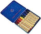 Stockmar 31000 Wachsmal-Stifte mit reinem Bienenwachs, 8 leuchtende Farben, inkl. Schaber, verpackt im praktischen Blechetui, ideal zum Malen für Kinder