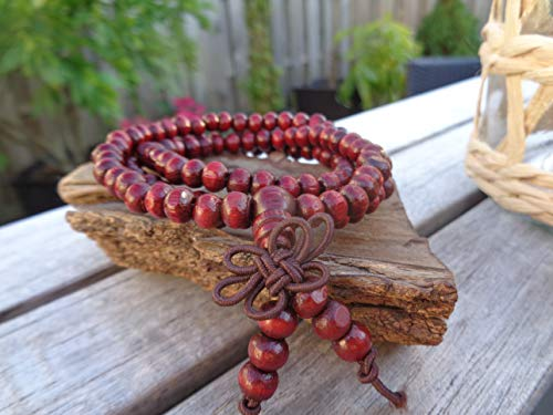 ✿ MALA YOGA MEDITATIONSARMBAND HOLZ ✿ Buddhismus, Stetch Armband, dehnbar, unisex, Buddha, Vipassana, YOGA, MEDITATION, ARMBAND