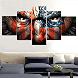 Cuadro de lienzo HD para casa, 5 piezas/Set de bandera de Estados Unidos moderno para pinturas, decoración de pared, cuadros modulares impresos