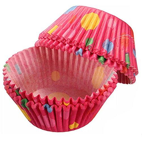 ZHOUBA Lot de 100 mini caissettes en papier multicolores pour muffins, cupcakes et gâteaux (aléatoire)