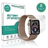 Anoke Protector Pantalla Apple Watch 42mm / 44mm [8 Piezas], Piel líquida HD Film Transparente para iWatch (Series 5/4 Series 3/2/1) Liquid Skin [Sin Burbujas] [garantía de reemplazo de por Vida]