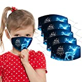 KYLEON 5pcs Kids Face Bandanas Cotton Covering for Halloween, Christmas and Daily Use