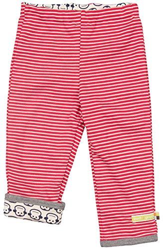 loud + proud Baby-Unisex Wendehose aus Bio Baumwolle, GOTS Zertifiziert Hose, Rot (Tomato to), (Herstellergröße: 86/92)