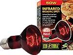 Exo Terra Heat Glo Infrared Spot Reptile Lamp, Reptile Heat Bulb, 50-Watt/120-Volt, PT2141A1