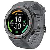 AllCall Model 3 Smartwatch,mit Blutdruck messung Intelligente Uhr IP68 Waterproof,Pulsuhren GPS-Fitness Tracker Uhr Bluetooth,1.28 Zoll Touchscreen Smart Watch für Damen Herren Android iOS(Grau)