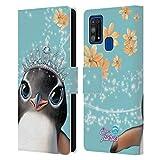 Head Case Designs Licenciado Oficialmente Animal Club International Penguin Royal Faces Carcasa de Cuero Tipo Libro Compatible con Samsung Galaxy M31 (2020)
