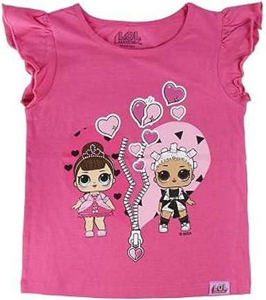 LOL Surprise! Camiseta Original para Niñas con Las Muñecas LOL Rocker, BFF Fancy & Fresh, Diva, Mc Swag, It Baby, Leading Baby   Top Infantil De ...