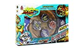 LEMON TREE SL Bursttop peonza Estilo Beyblade con Lanzador Pack 4 peonzas. Mayor rotación. Version Metal Spinners (Multicolor)