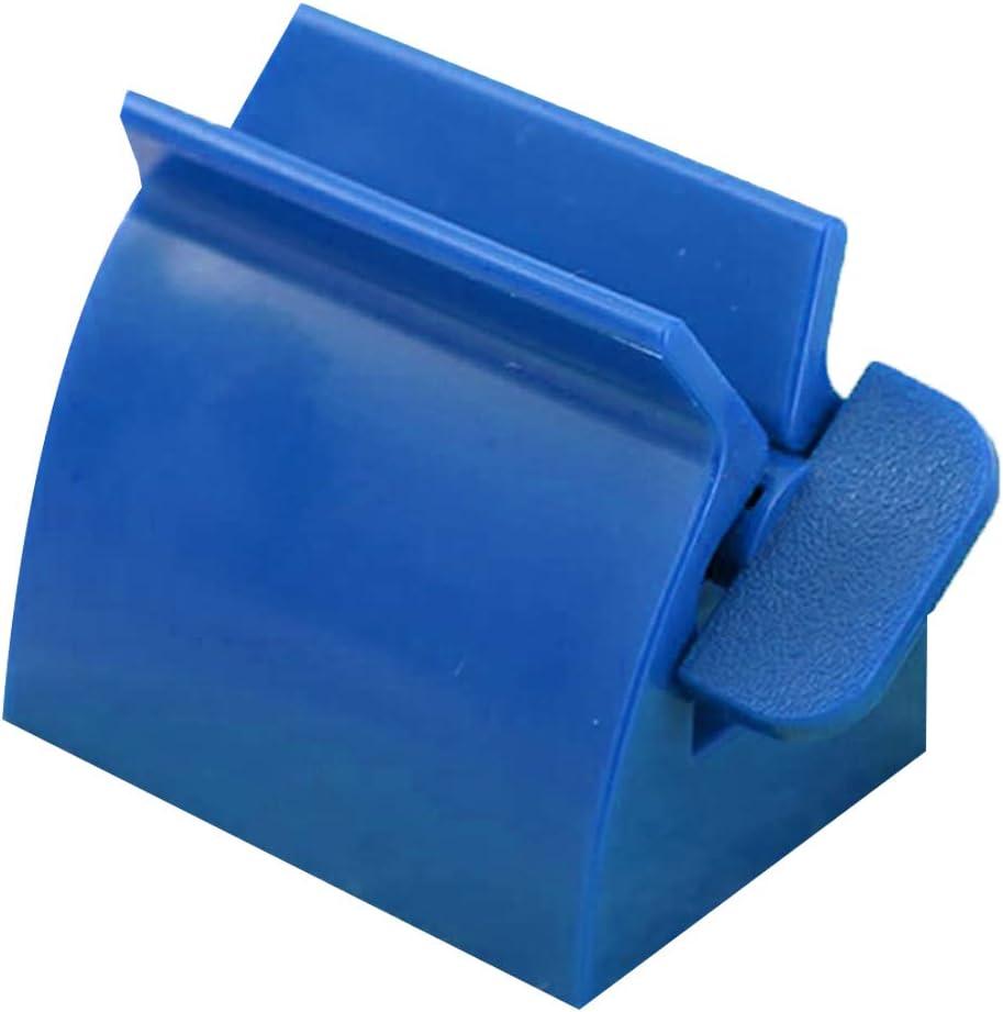 ENticerowts Dispensador de Pasta de Dientes/hogar Tubo de baño Soporte de Rodillo Limpiador Facial exprimidor dispensador de Pasta de Dientes Accesorios de baño Azul