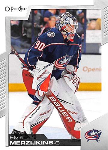 2020-21 O-Pee-Chee #283 Elvis Merzlikins Columbus Blue Jackets Hockey Card