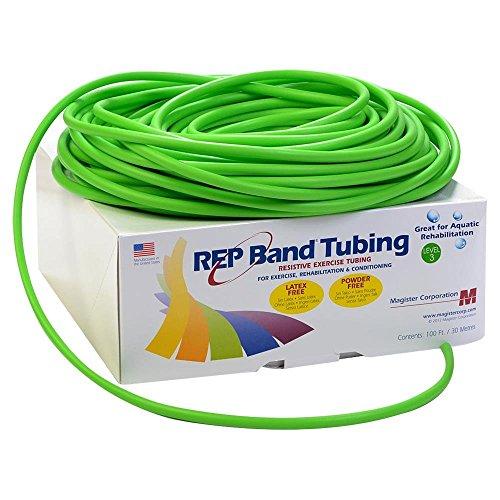 Rep banda ejercicio tubo–látex libre–100'–verde, nivel 3